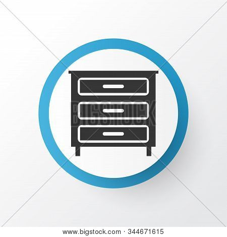Dresser Icon Symbol. Premium Quality Isolated Sideboard Element In Trendy Style.