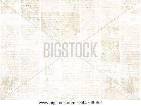 Old Grunge Newspaper Paper Textured Background. Blurred Vintage Newspapers Texture Background. Blur