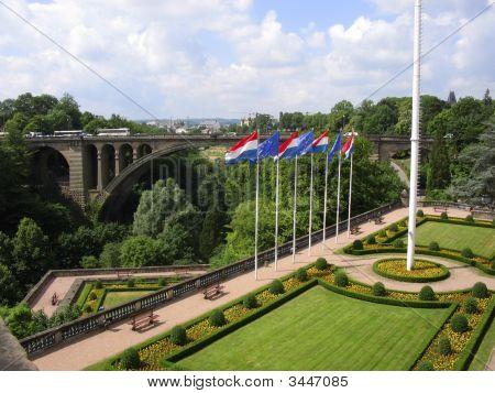 Garden And Bridge Luxembourg City