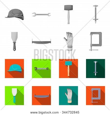Vector Illustration Of Renovation And Household Icon. Set Of Renovation And Handicraft Stock Symbol