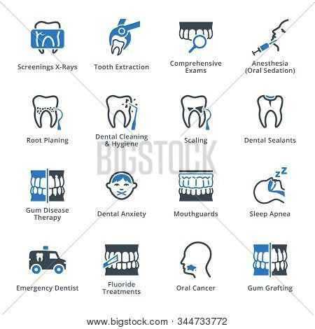 This Set Contains General And Preventive Dentistry Icons That Can Be Used For Designing And Developi