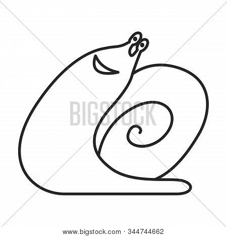 Snail Vector Icon.line Vector Icon Isolated On White Background Snail .