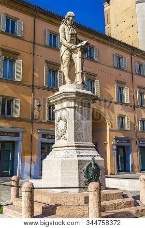 Bologna, Italy - February 15, 2018: Statue Of Italian Physici Luigi Galvani  In Bologna, Italy. Stat