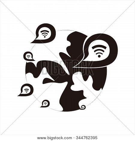 Message Icon, Black Icon With White Background. Simple Icon. Message Icon Combined With Image Signal