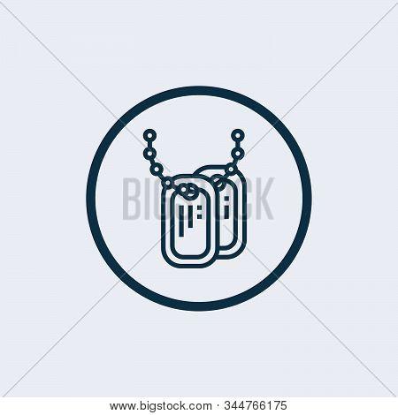 Dog Tag Icon Isolated On White Background. Dog Tag Icon Simple Sign. Dog Tag Icon Trendy And Modern