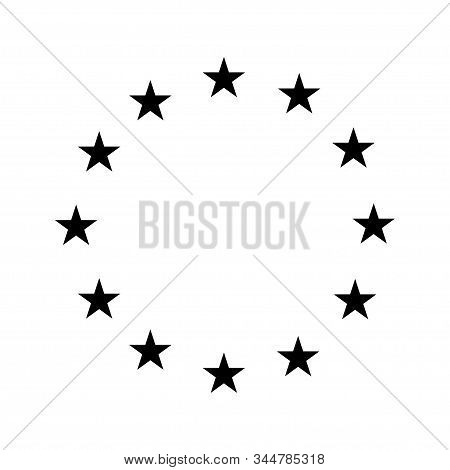 Europe Union Vector Star Icon. European Union Flag Symbol. Euro Icon Vector. Eps 10