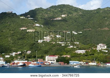 The Port And Road Town Suburb View On Tortola Island (british Virgin Islands).