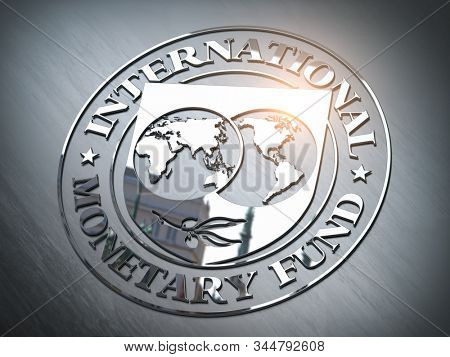 IMF International Monetary Fund symbol or sign. 3d illustration