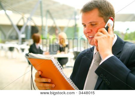 Business Man Reading Report