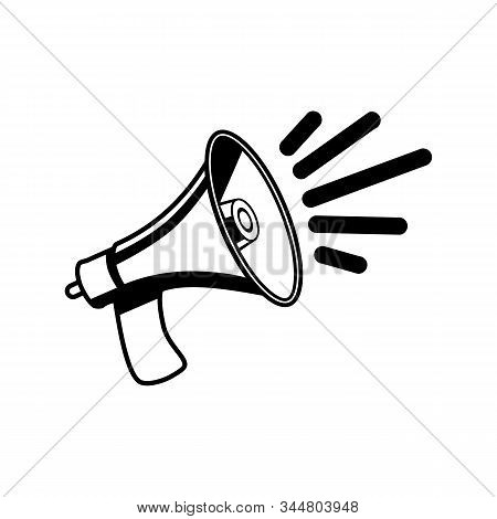 Save Download Preview Megaphone Icon Isolated On White Background. Megaphone Icon In Trendy Design S
