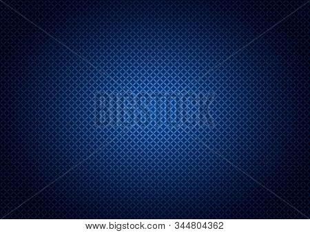 Abstract Background With Small Geometric Ornament In Blue Ultramarine And Gradient, Darkening To The