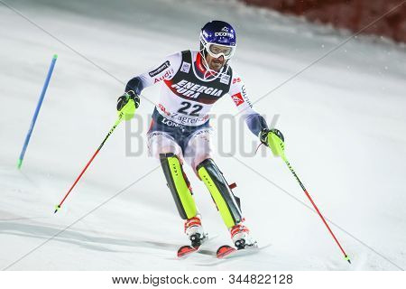 Zagreb, Croatia - January 5, 2020 : Jean Baptiste Grange From France Competing On The 2nd Run During