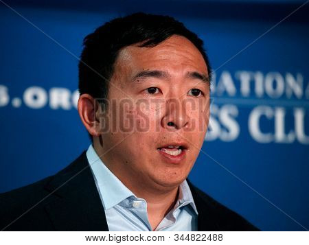 California,united States,november 2019,american 2020 Presidential Candidate Andrew Yang About His Th