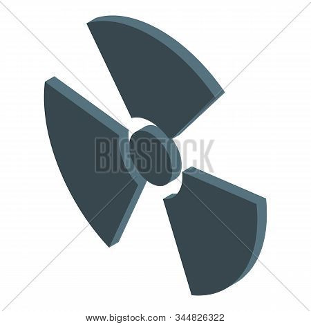 Radiation Nuclear Icon. Isometric Of Radiation Nuclear Vector Icon For Web Design Isolated On White
