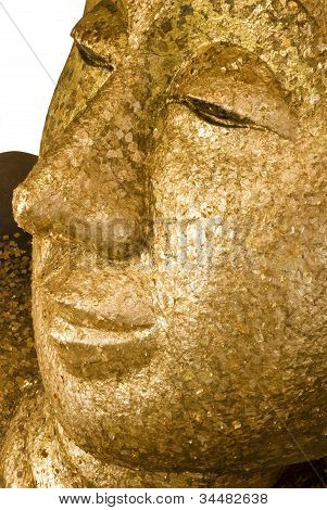 Golden Reclining Buddha In Thailand