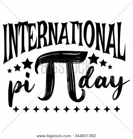 International Pi Day Flat Design Vector Illustration On White Background