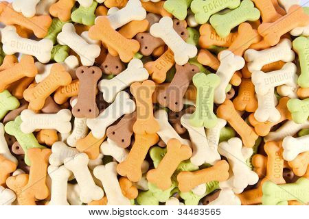 Backgrounds Of Color Full Bone Shaped Dog Treats