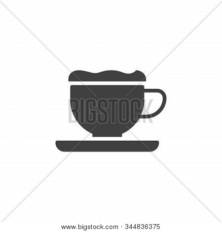 Frappe Coffee Cup Vector Icon. Filled Flat Sign For Mobile Concept And Web Design. Milkshake Cup Wit