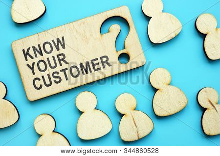 Know Your Customer Phrase On The Plate.