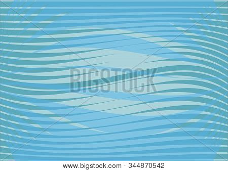 Blue Wavy Patterns Background, Leaflet, Flyer, Bill Background, Abstract Horizontal Waves With Light