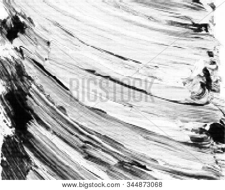 Black Halftone Brushstrokes Background. Vector Modern Background For Posters, Brochures, Sites, Web,