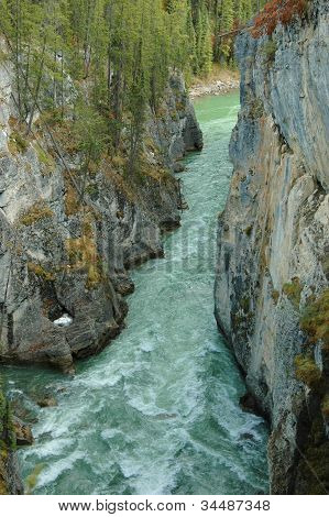 Rushing River In Canyon