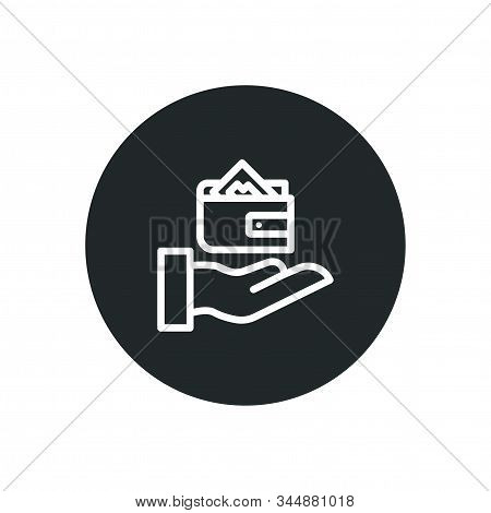 Hand On Wallet And Money Business Icon Design Symbol