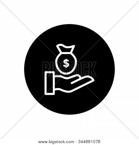 Hand On Money Business Icon Design Vector