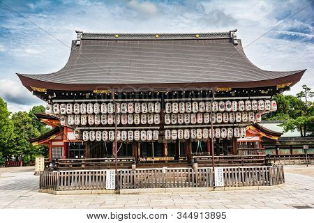 Kyoto, Japan, Asia - September 5, 2019 : View Of The The Yasaka Shrine