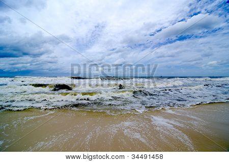 Tropical Storm On The Coast
