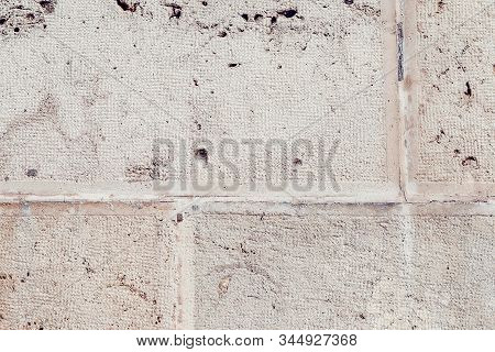 Aged Cement Wall Texture. Old Wall Facade