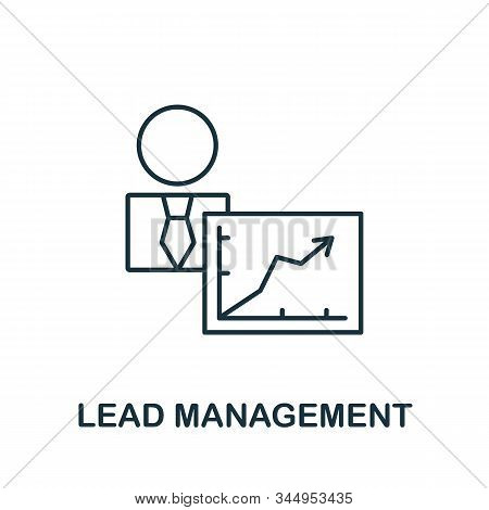Lead Management Icon From Reputation Management Collection. Simple Line Element Lead Management Symb