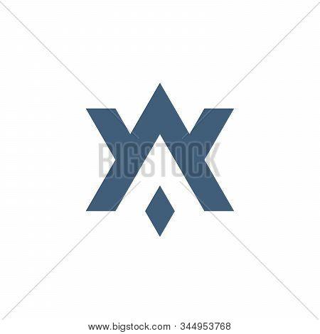 Av Va A V Initial Based Letter Icon Geometric Logo. Technology Business Identity Concept. Creative C