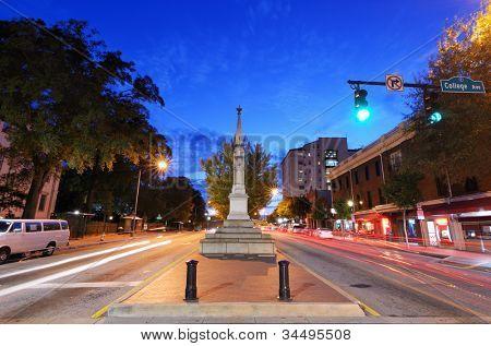 downtown athens, georgia, usa cityscape