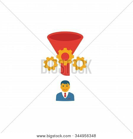 Converted Lead Icon. Simple Flat Element From Crm Collection. Creative Converted Lead Icon For Templ