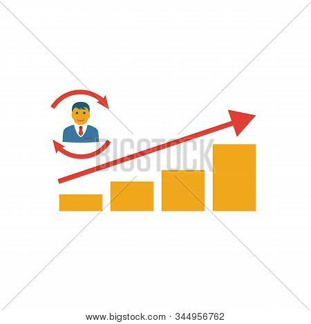 Lead Conversion Rate Icon. Simple Flat Element From Crm Collection. Creative Lead Conversion Rate Ic
