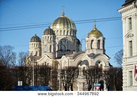 12-10-2018 Riga, Latvia Riga Nativity Of Christ Cathedral In Riga, Latvia