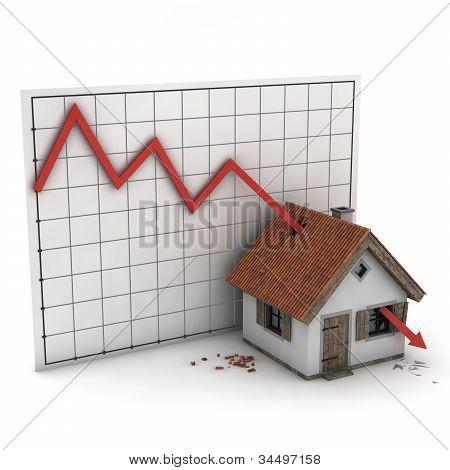 graph house arrow