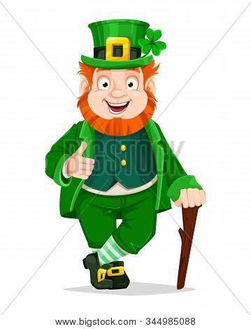 Stock Vector Leprechaun Cartoon Character