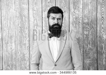 Barber Shop Concept. Gentleman Style Barber. Barber Shop Offer Range Of Packages For Groom Make His