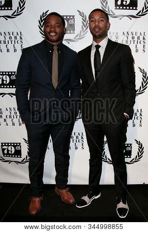 NEW YORK-JAN 6: Director Ryan Coogler (L) and Michael B. Jordan attend the New York Film Critics Circle Awards at the Edison Ballroom on January 6, 2014 in New York City.