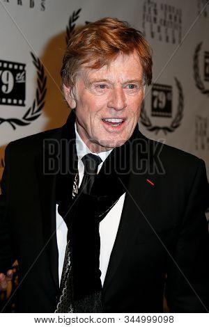 NEW YORK-JAN 6: Actor Robert Redford attends the New York Film Critics Circle Awards at the Edison Ballroom on January 6, 2014 in New York City.