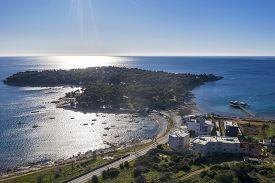 An Aerial View Of Stoja Peninsula, Istria, Croatia