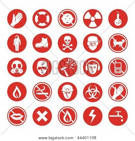 Work Protection Various Icons