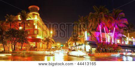 Miami Beach Florida bunte Nacht Sommer Szene