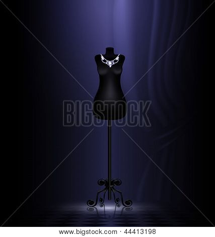 craft dummy in a black room