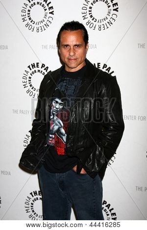 LOS ANGELES - APR 12:  Maurice Benard arrives at the General Hospital Celebrates 50 Years - Paley at the Paley Center For Media on April 12, 2013 in Beverly Hills, CA