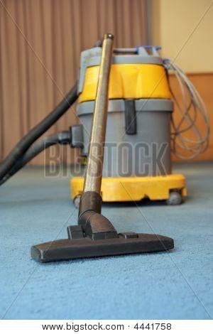Vacuum Machine On Carpet At Meeting Room
