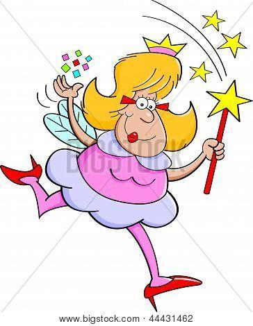 Cartoon fairy godmother