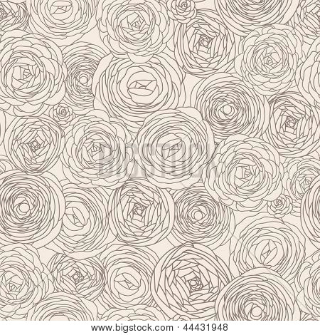 Stylish floral seamless pattern in vector. Seamless pattern can be used for wallpaper, pattern fills, web page backgrounds, surface textures. Gorgeous seamless floral background